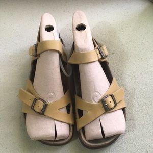 BLACK JACK Cork Footbed Leather Sandals